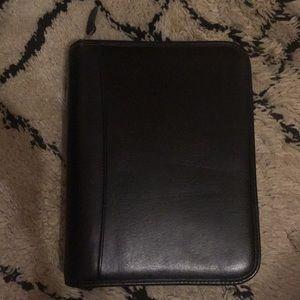 Franklin Covey Black Vegan Leather Planner Binder